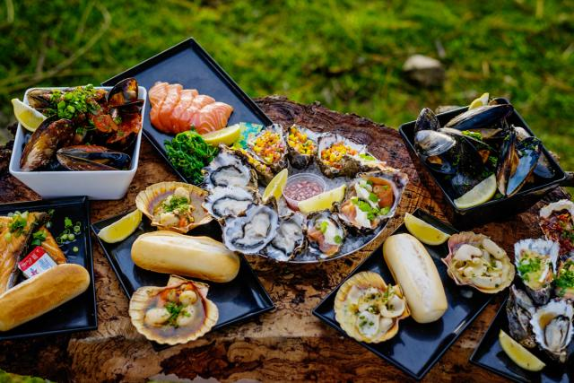 A sumptous array of delicious seafood dishes