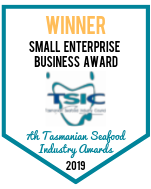 Winner: Tasmanian Seafood Industry Awards, Small Enterprise Business Award
